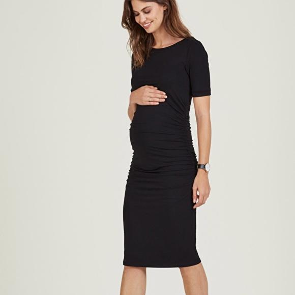 23b5a15ab3d00 Isabella Oliver Dresses & Skirts - Isabella Oliver Ruched T Shirt Maternity  Dress